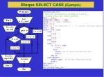 bloque select case ejemplo