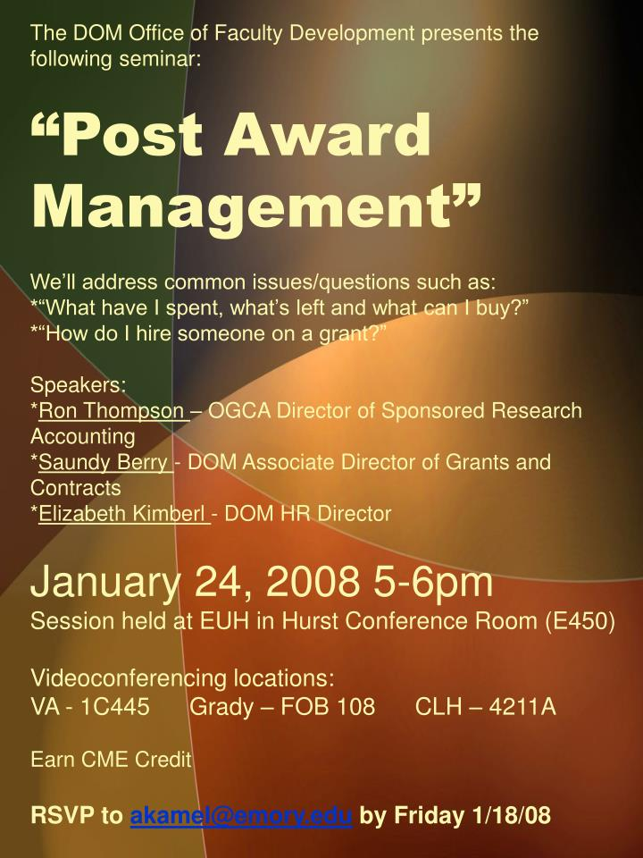 The DOM Office of Faculty Development presents the following seminar:
