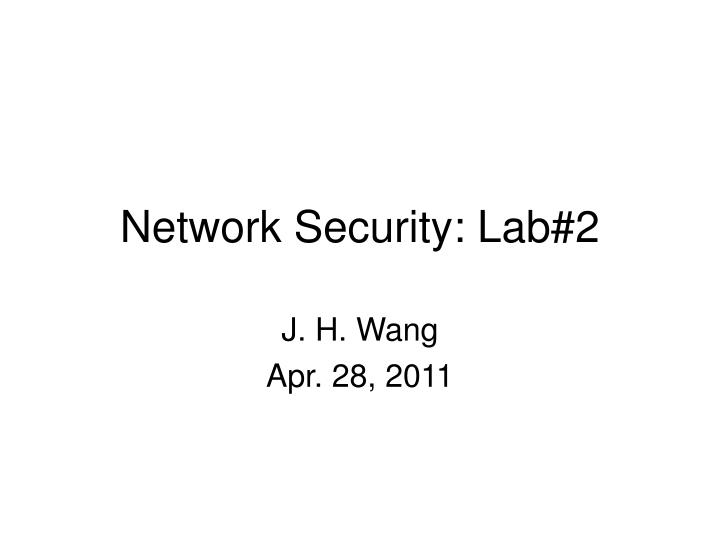 Network security lab 2