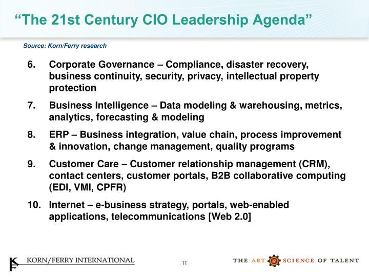 """The 21st Century CIO Leadership Agenda"""