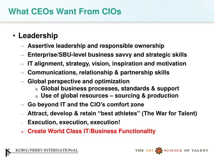What CEOs Want From CIOs
