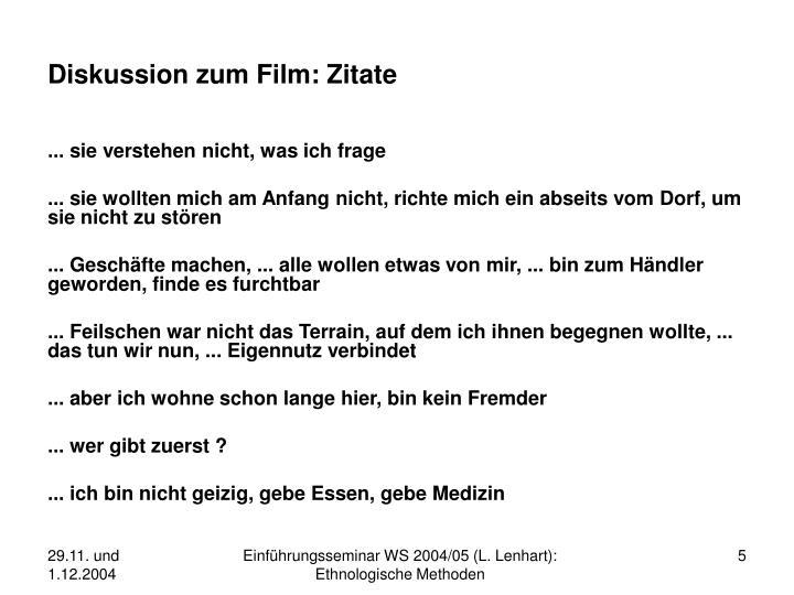 Diskussion zum Film: Zitate