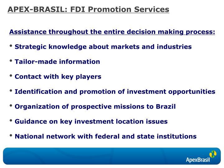 APEX-BRASIL: FDI Promotion Services