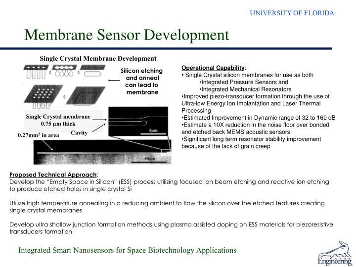 Membrane Sensor Development