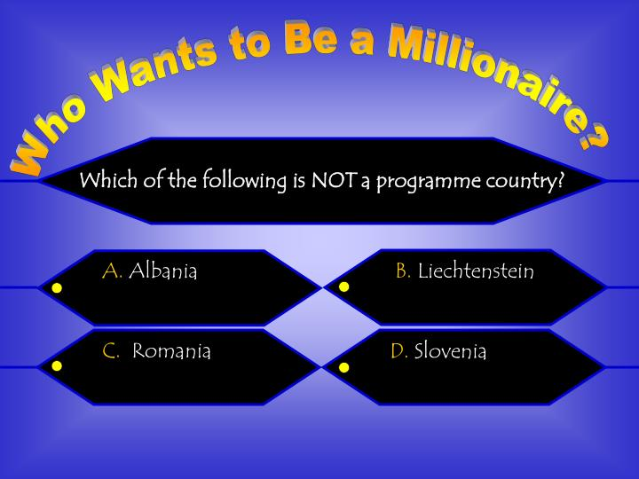 Which of the following is NOT a programme country?