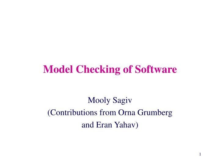 model checking of software n.