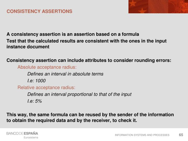 Consistency assertions
