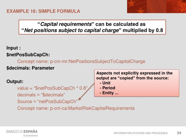 EXAMPLE 16: Simple formula