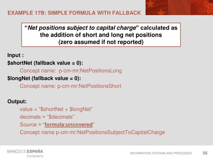 EXAMPLE 17B: Simple formula with fallback