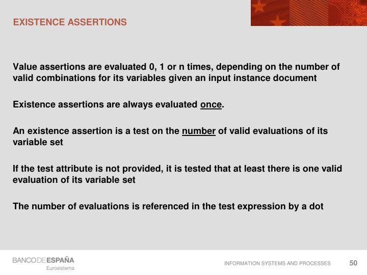 Existence assertions