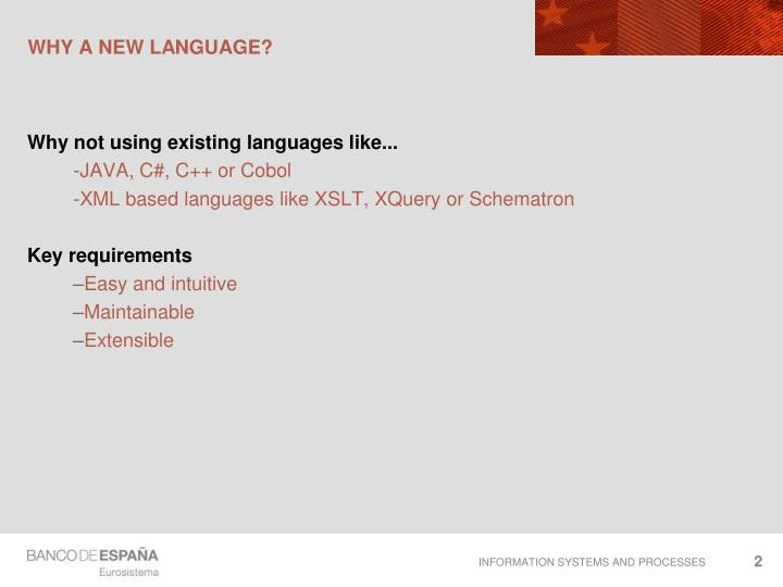 Why a new language