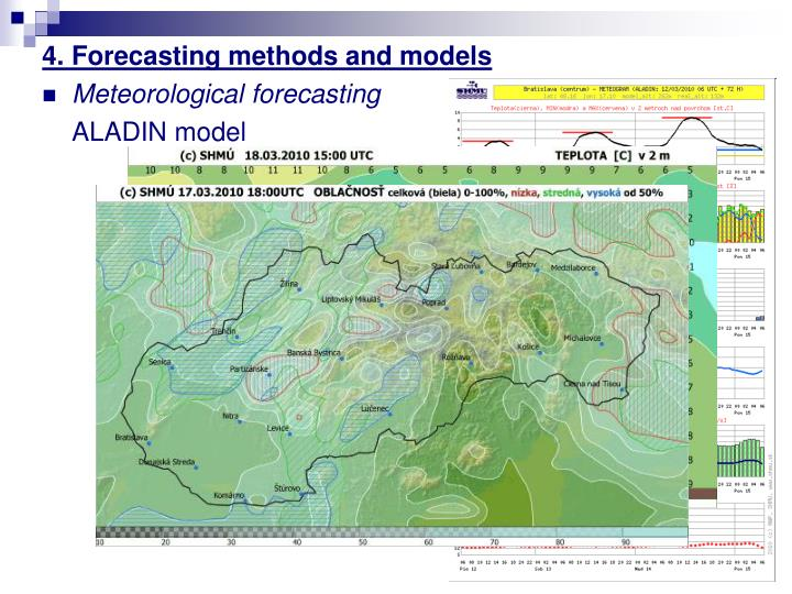 4. Forecasting methods and models