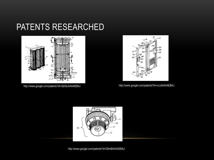 Patents Researched