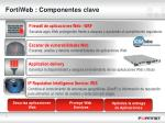 fortiweb componentes clave