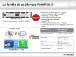 la familia de appliances fortiweb ii