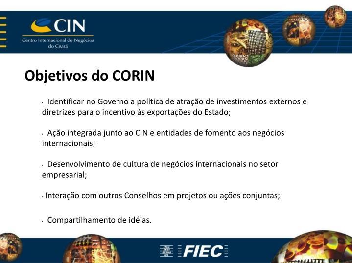 Objetivos do CORIN