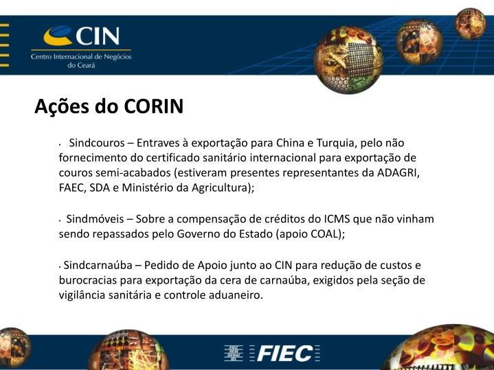 Ações do CORIN