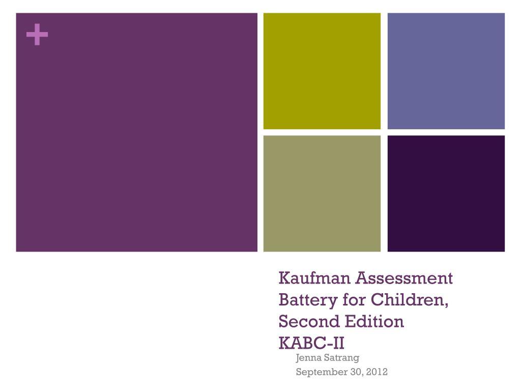 kaufman assessment battery for children k abc