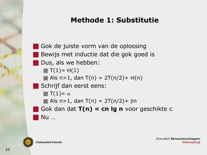 Methode 1: Substitutie