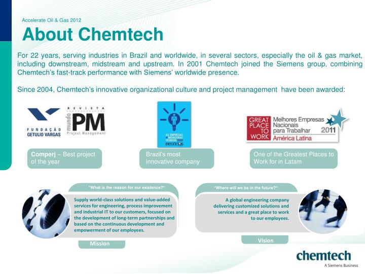 Accelerate oil gas 2012 about chemtech