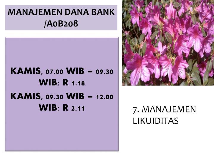 Kamis 07 00 wib 09 30 wib r 1 18 kamis 09 30 wib 12 00 wib r 2 11