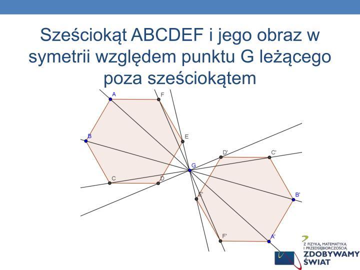 Sześciokąt ABCDEF
