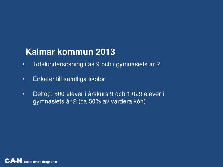 Kalmar kommun 2013