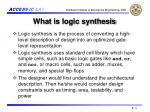 what is logic synthesis