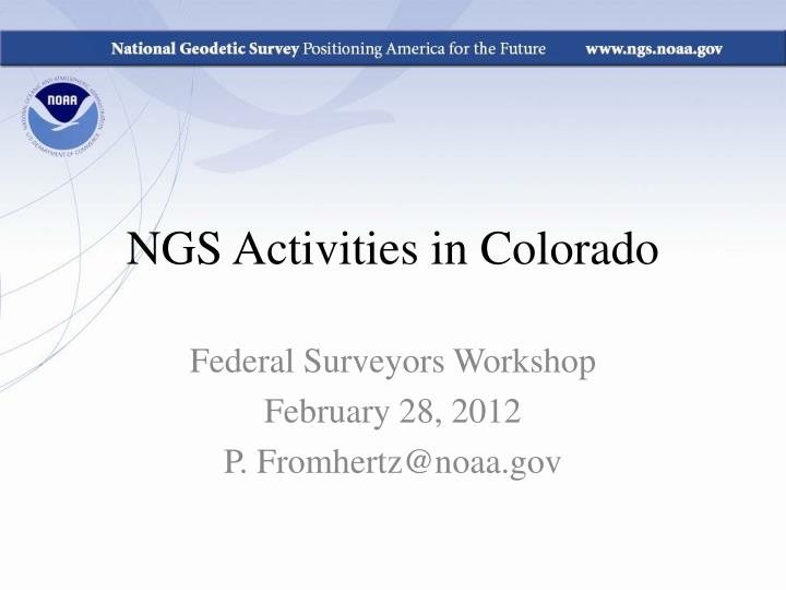 ngs activities in colorado n.