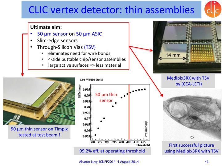 CLIC vertex detector: thin assemblies