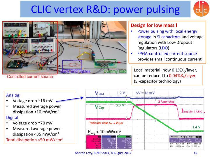 CLIC vertex R&D: power pulsing