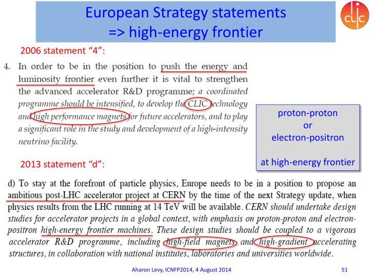 European Strategy statements
