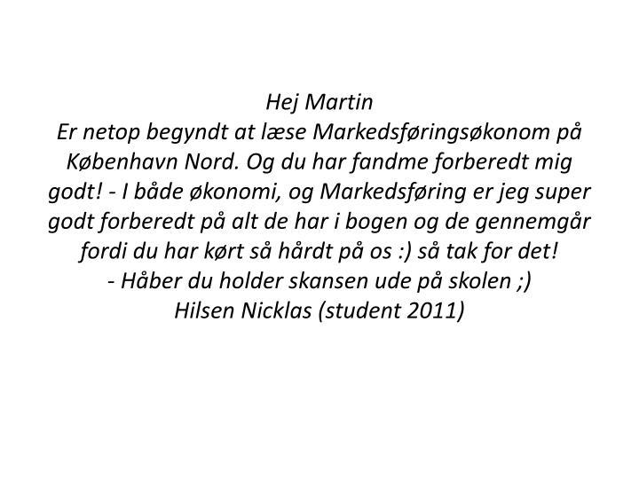 Hej Martin