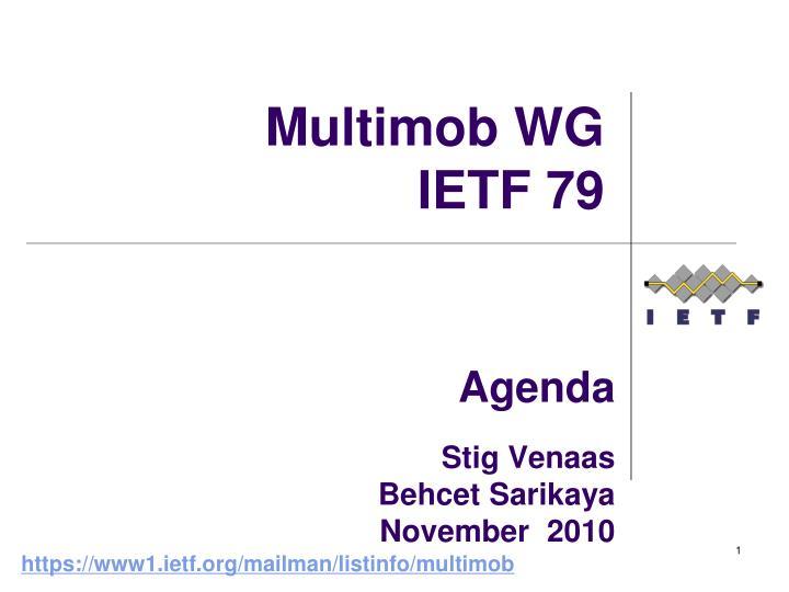agenda stig venaas behcet sarikaya november 2010