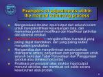 exam ples of adjustments within the manual balancing process