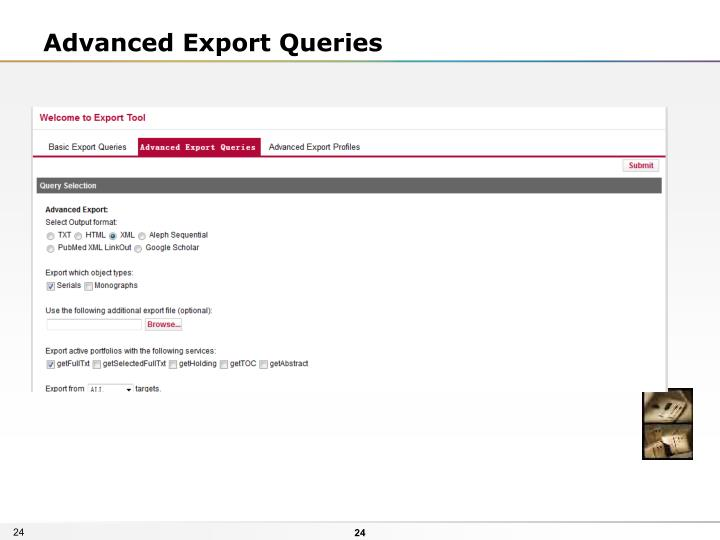 Advanced Export Queries