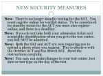 new security measures