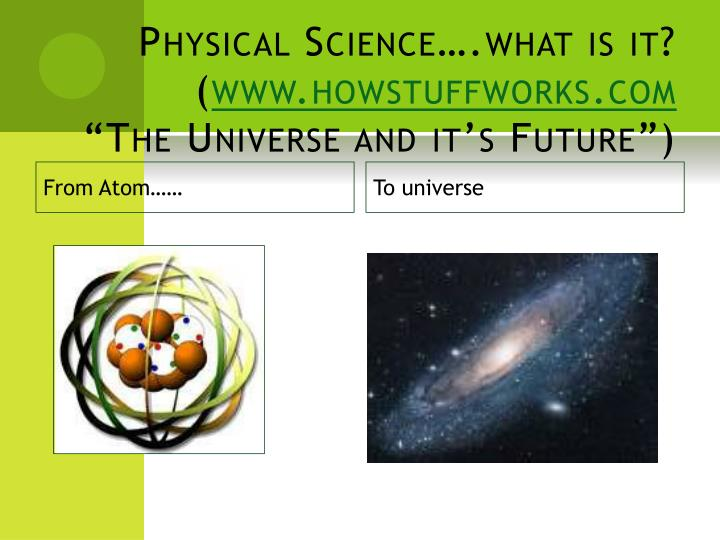 Physical Science….what is it?