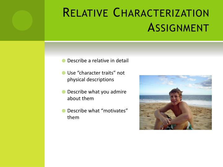 Relative Characterization Assignment