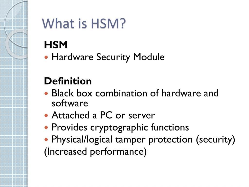 Software Hsm