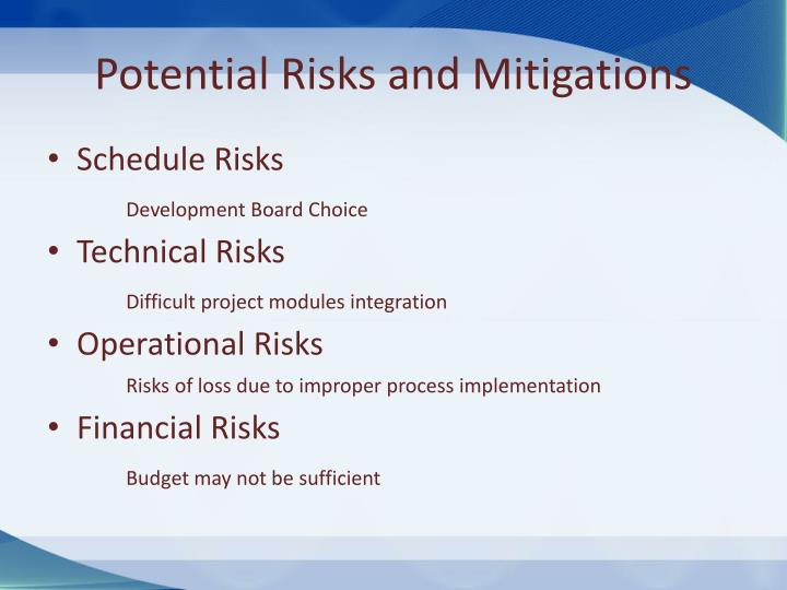 Potential Risks and Mitigations