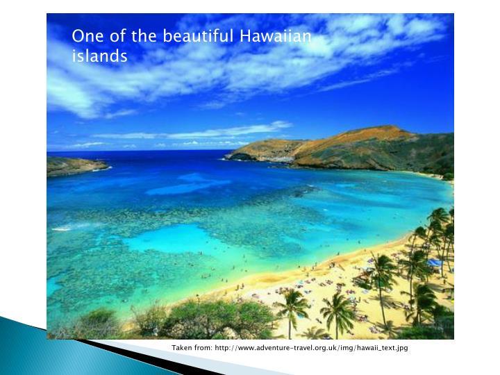 One of the beautiful Hawaiian islands