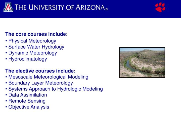 The core courses include