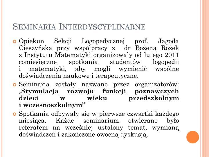 Seminaria Interdyscyplinarne