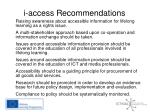 i access recommendations