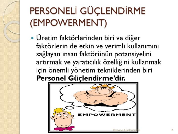 Personel g lend rme empowerment