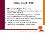 actions taken by cgil
