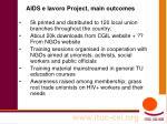 aids e lavoro project main outcomes