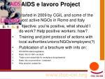 aids e lavoro project