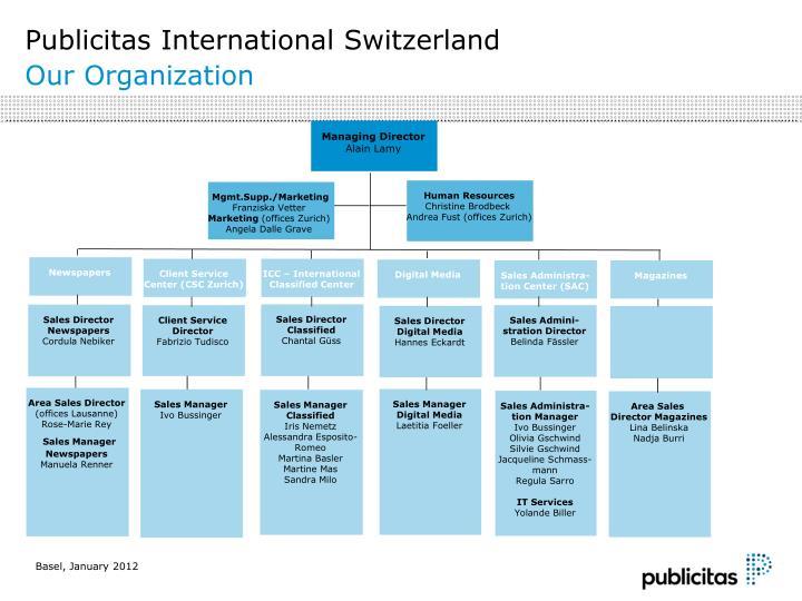 publicitas international switzerland our organization n.
